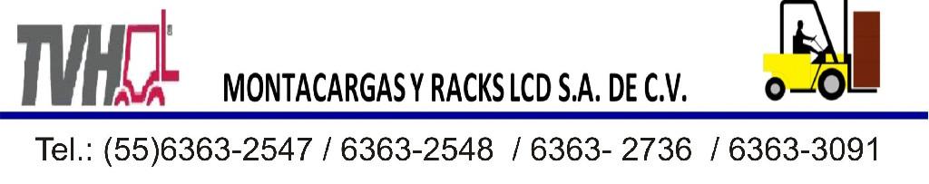 montacargas y racks LCD
